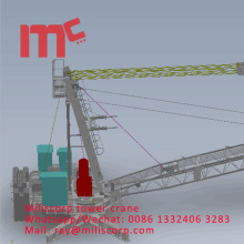 3D drawing roof derrick tower crane