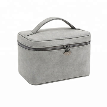 Professional PU Zipper Trolley Makeup Cosmetic Bag Case
