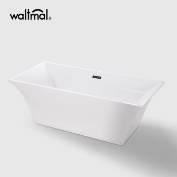 Galina Center Drain Soaking Tub in White