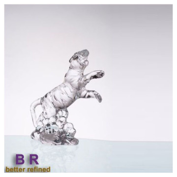 Glass Tiger decoration Hand Made Crystal Ornaments