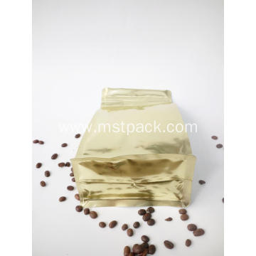 Print Coffee Flat Bottom Pouch with Window