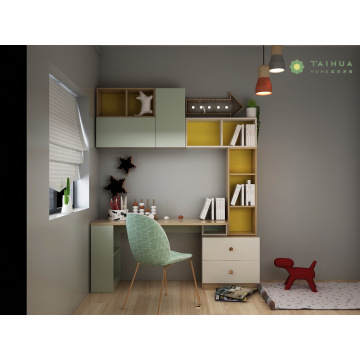 Light Green Kids' Desk and Book Shelf