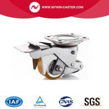 Stainless Steel PU Aluminum Alloy Adjustable Caster