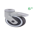 5 Inch Hollow Rivet Swivel TPR PP Material With Bracket Medical Caster