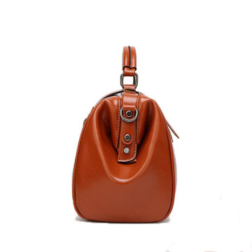Quality Blank PU Leather Lady Tote Hand Bag