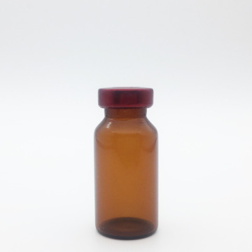 8ml Amber Sterile Serum Vials Red Cap