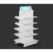 Cheap for Metal Pharmacy Shelf Wholesale Steel Pharmacy Display Shelf supply to Haiti Wholesale