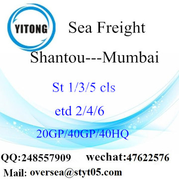 Shantou Port Sea Freight Shipping To Mumbai
