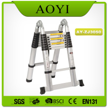Good Quality for Best Aluminum Telescopic Ladder,Single Side / Double Side Telescopic Ladder Manufacturer in China Double side 5m aluminum telescopic ladder export to New Caledonia Factories