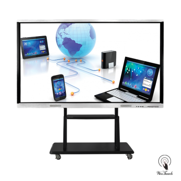 98 Inches UHD Touchscreen Panel with mobile stand