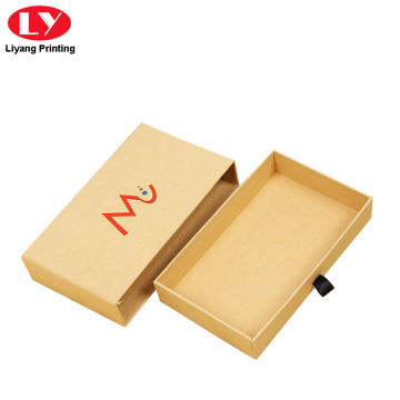 Custom Printed logo Cardboard Kraft Drawer Boxes Packaging