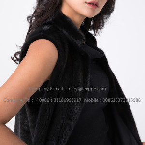 Black Fashionable Mink Vest