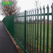 Best Price for for High Quality Palisade steel fence 2.4m high hot dip galvanized palisade fence export to New Caledonia Manufacturer