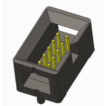 2.54mm Box header  with Post Connector