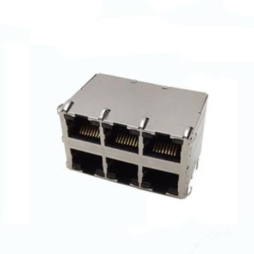 RJ45 Jack Side Entry Shielded 2x3P with EMI