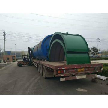 waste rubber pyrolysis  oil output pyrolysis machines