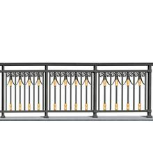Golden Black Aluminum Balcony Fence
