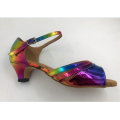 Latin dance shoes 2 inch heel for girls