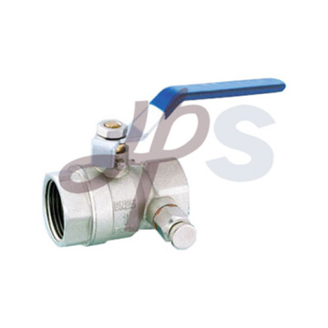 Brass Ball valve with drain