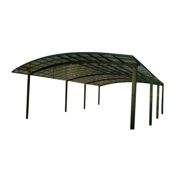 Steel Metal Shed Waterproof Flat Roof Polycarbonate Carport
