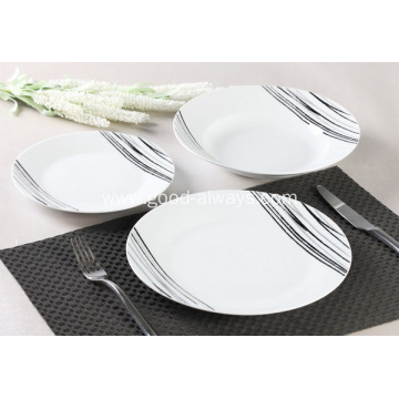 12 Piece Porcelain Dinner Set Simple Sketch