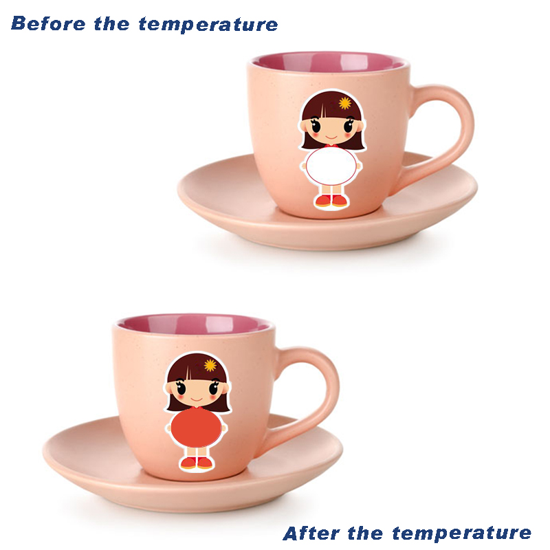 Baby bottle thermosensitive sticker