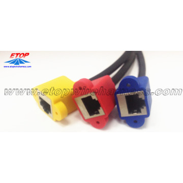 Molded RJ45 Connector Cable Wiring
