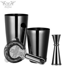Factory Direct Gunmetal Black Mixer Cocktail Shaker Set