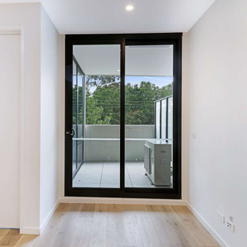 Lingyin Construction Materials Ltd New windows and doors black double glass aluminum sliding door