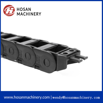 Flexible enclosed black enclosed cable drag chain