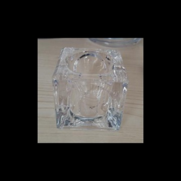 Glass Square Tealight Holder