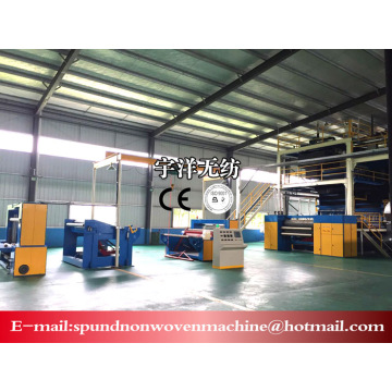 Automatic non woven fabric making machine