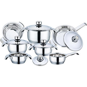 Factory Supply Factory price for Copper Cookware Set 12 Pieces Stainless Steel Wide Edge Cookware Set export to Netherlands Factory