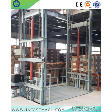 2.0t 7.5m Guide Rail Goods Lift Platform Algeria