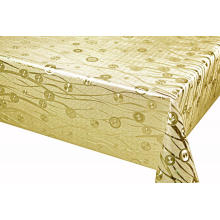 Silver Gold Coating Embossed Tablecloth
