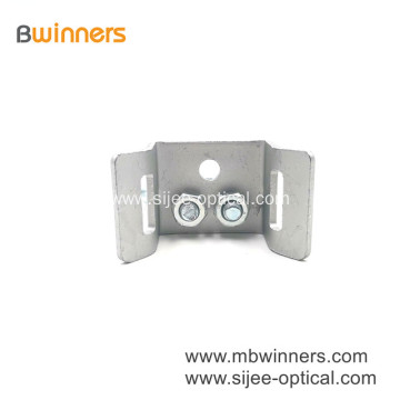 Galvanized Steel FTTH Cable Base Plate Pole Bracket