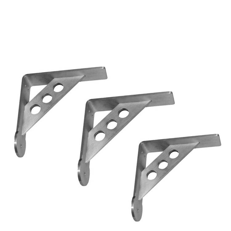 Sheet Fabrication Wall Mounting L Shaped Metal Bracket