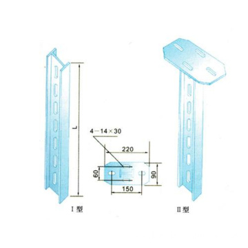Cable Support Upright T-Iron Column Cable Tray Accessories