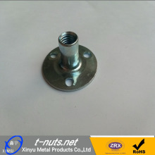 Good Quality for Cliff-Climbing Tee Nut 3 Hole Round Base T Nuts supply to Italy Manufacturer