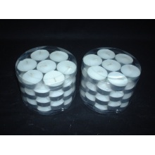 Unscented White Colored Mini Paraffin Tea Light Candle
