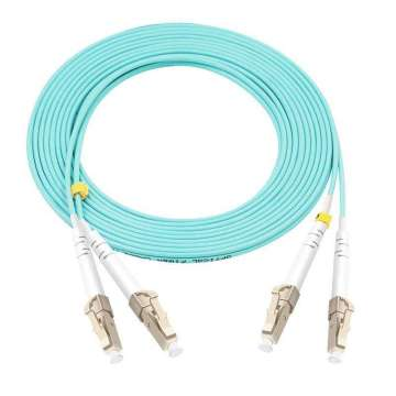 LC-LC OM4 duplex patch cable OFNR/OFNP