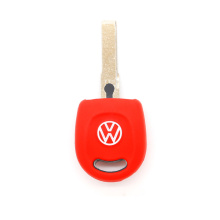 VW 1 knop fob siliconen autosleutel shell