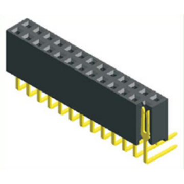 2.54mm Female Header Dual Row Angle Type H:8.5