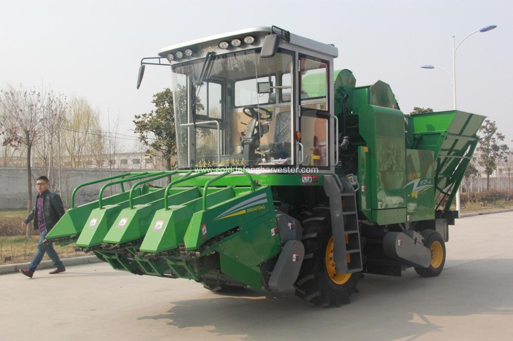 Chinese corn harvester reaper
