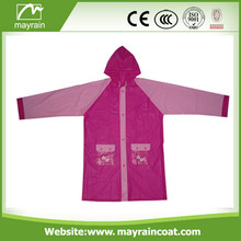 Kid' PVC Raincoat With Printing Logo