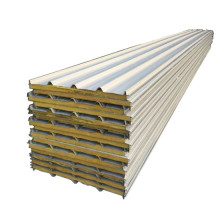 Low MOQ for Rock Wool Sandwich Panels rock wool sandwich panel prefabricated sandwich panel export to Spain Exporter