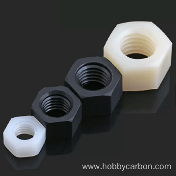 CNC Maschinn Präzisioun Hardware Nylon Hexagon Nëss