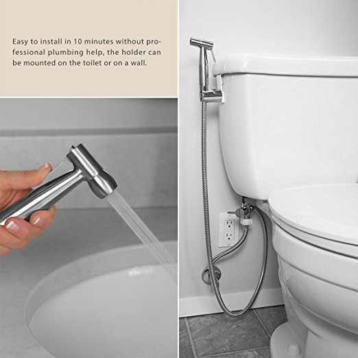 Amazon Hot selling toilet hand bidet shattaf set