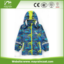 PU Fabric School Raincoat for Kids