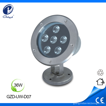 Professional stainless IP68 36W underwater lights for pool